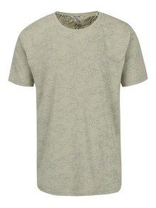 Kaki vzorované tričko ONLY & SONS Silas