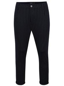 Tmavomodré pruhované skrátené chino nohavice ONLY & SONS Pin