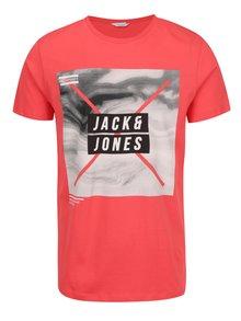 Tricou roșu Jack & Jones Mango cu print