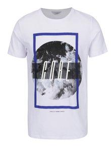 Bílé triko s potiskem Jack & Jones Mango