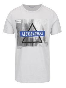 Světle šedé triko s potiskem Jack & Jones Mango