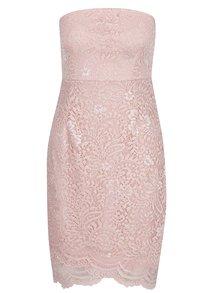 Růžové krajkové šaty ONLY Sierra