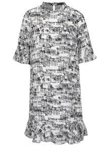 Čierno-biele šaty s potlačou mesta Pretty Girl