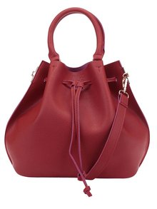 Geantă sac roșie cu baretă crossbody Fez by Fez Secchiello