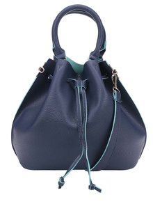 Geantă bucket bleumarin crossbody Fez by Fez Secchiello