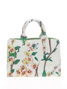 Krémová kabelka s potlačou kvetov Fez by Fez Tracolla Fiore