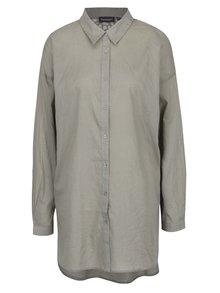 Khaki dámská volná košile s krajkou na zádech Broadway Fairlie