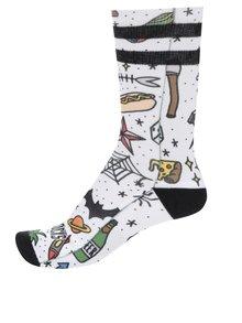 Biele pánske vzorované ponožky American Socks