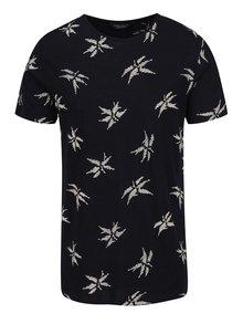 Černé vzorované triko Jack & Jones Milton