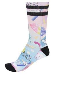 Ružové dámske ponožky s tropickým vzorom American Socks