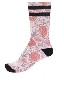 Ružové dámske ponožky s kvetovaným vzorom America Socks