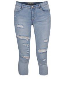 Světle modré tříčtvrteční džíny s nízkým pasem a potrhaným efektem TALLY WEiJL