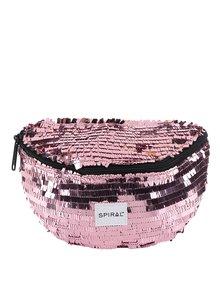 Borsetă roz de damă Spiral Harvard Mum Bag cu paiete