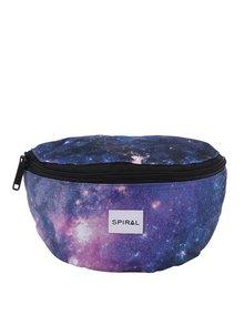 Modrá unisex ledvinka s motivem vesmíru Spiral Harvard Mum Bag
