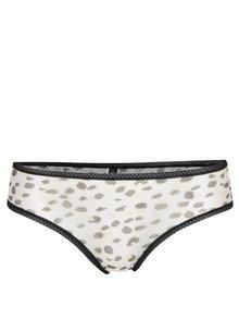 Krémové priesvitné nohavičky s leopardím vzorom ICÔNE Abi