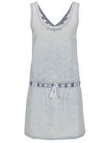 Světle modré džínové šaty Rip Curl Pacha