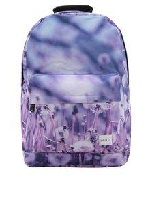 Modrý dámský batoh s celopotiskem Spiral 18 l