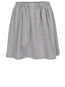 Sivá dievčenská sukňa s potlačou 5.10.15.