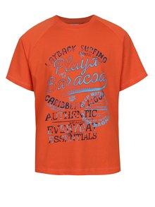 Tricou potrocaliu 5.10.15 cu print pentru băieți