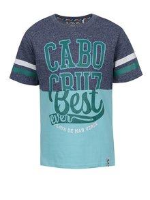 Tricou albastru&gri 5.10.15 cu print pentru băieți