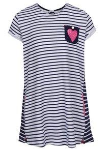 Modro-biele dievčenské pruhované šaty s vreckom 5.10.15.