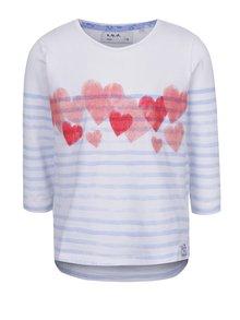 Bluză alb&albastru 5.10.15 cu model în dungi pentru fete