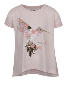 Tricou roz prăfuit 5.10.15 cu imprimeu pentru fete