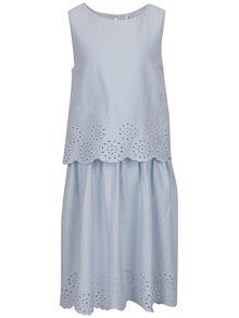 Svetlomodré dievčenské šaty z madeiry 5.10.15.