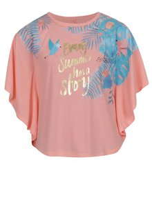 Bluză roz piersică 5.10.15 cu imprimeu pentru fete