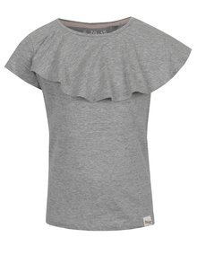 Tricou gri melanj 5.10.15 cu volan amplu pentru fete