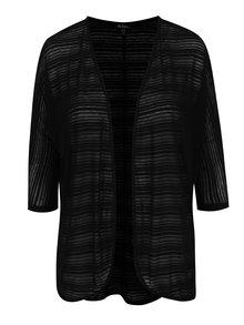 Černý cardigan s jemným vzorem Ulla Popken