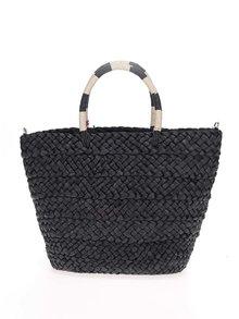 Černá kabelka s bambulemi Nalí