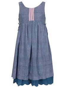 Rochie albastră 5.10.15 cu model în dungi pentru fete