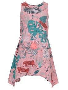 Růžové holčičí květované šaty se zavazováním v pase 5.10.15.