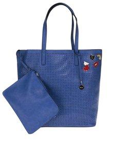 Geantă shopper albastră  Nalí  2 în 1