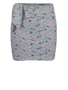 Sivá dievčenská vzorovaná sukňa so zaväzovaním 5.10.15.