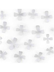Bílé samolepící květiny na zeď Umbra