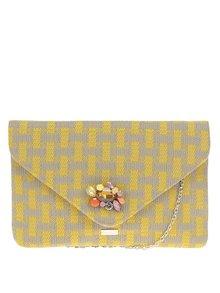 Šedo-žluté vzorované psaníčko/crossbody kabelka s broží Nalí