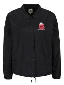 Jachetă neagră pentru femei VANS Skates cu imprimeu