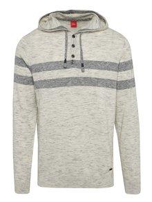 Krémový žíhaný pánský svetr s.Oliver