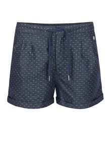 Pantaloni scurți albastru închis Ragwear High Dots cu model