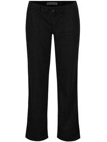 Čierne dámske ľanové nohavice QS by s.Oliver