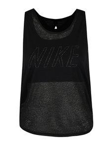 Čierne dámske funkčné tielko 2v1 Nike Training