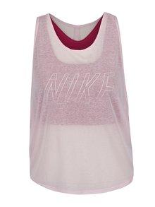 Růžové dámské funkční tílko 2v1 Nike Training