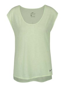 Svetlozelené dámske funkčné tričko s krátkym rukávom Nike