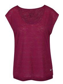 Fialové dámské funkční tričko s krátkým rukávem Nike