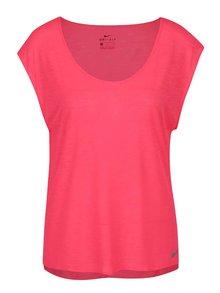 Tricou roz Nike cu tiv asimetric