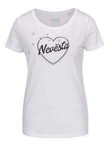 Bílé dámské tričko ZOOT Originál Nevěsta