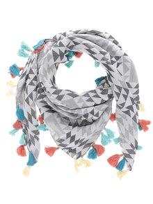 Šedý šátek s třásněmi Roxy Multi and Co