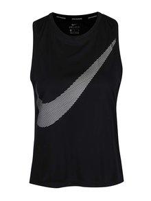 Čierne dámske funkčné tielko s potlačou Nike Dry